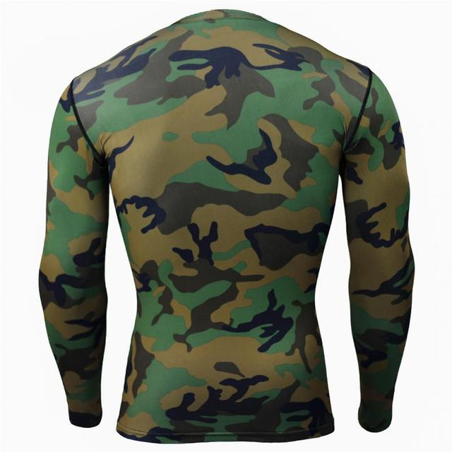 Male Yoga Camouflage Shirt