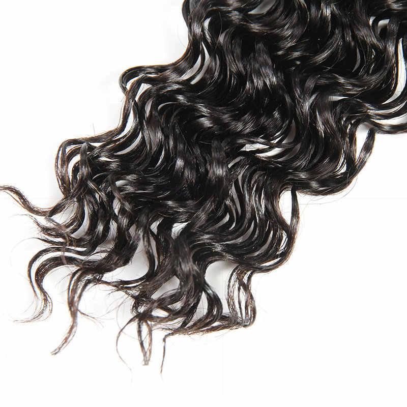 Индийский пучки вьющихся волос Yavida 100% человеческий волос Девы переплетения натуральный Цвет не Волосы remy Расширение глубокая волна Связки 1/3/4 шт