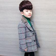 Зима-Весна ; модное бархатное шерстяное пальто для мальчиков