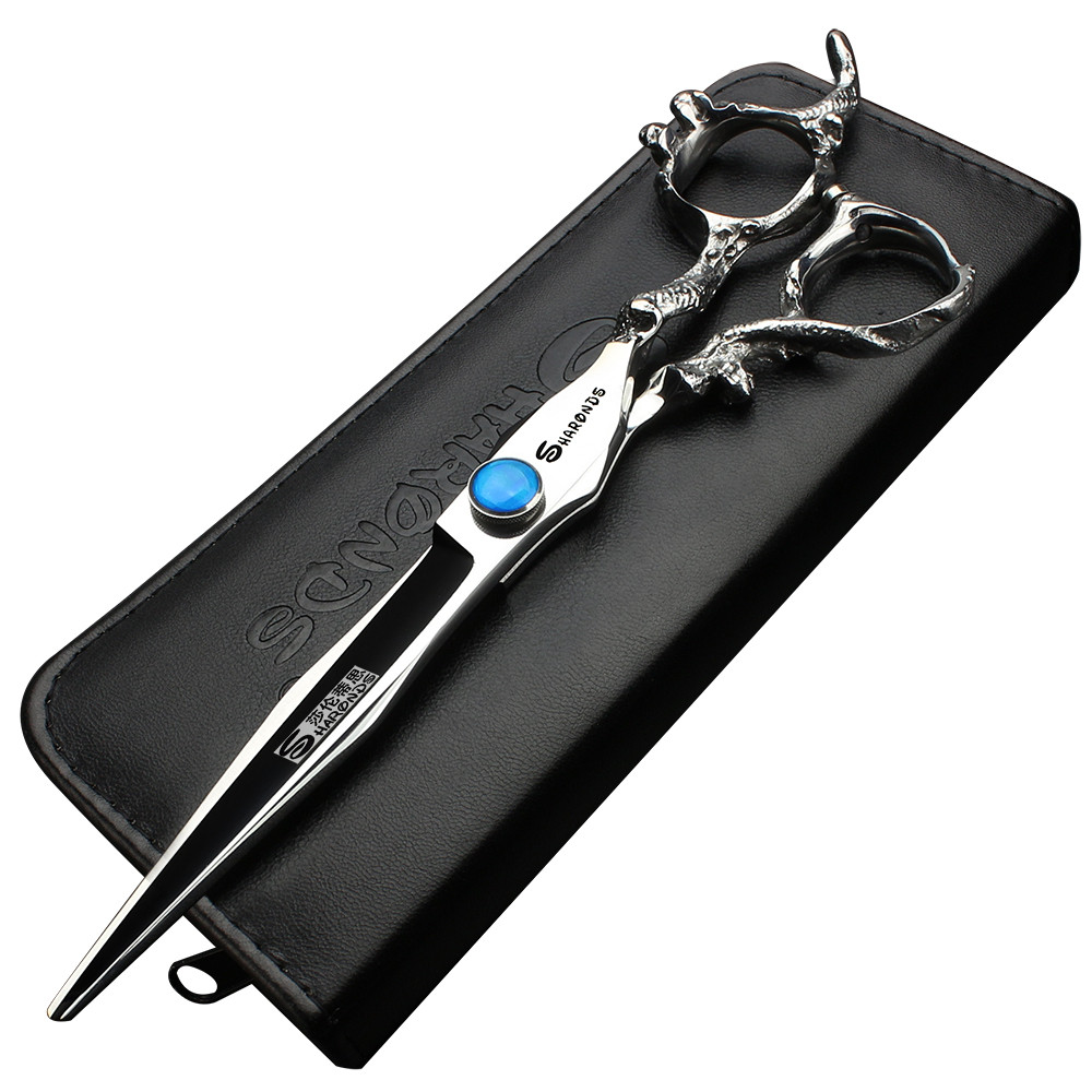 Sharonds 7 inch hair salon for hairdressing scissors personalized sapphire haircut modeling tools scissors