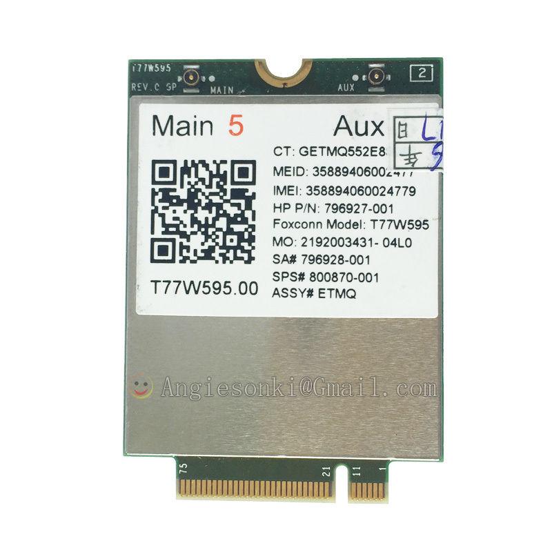 Lt4120 Snapdragon X5 LTE T77W595 796928-001 4G WWAN M.2 150 Mbps LTE Modem Pour HP Elite x2 840 850 G3 640 650 645 G2