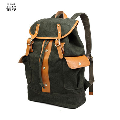 XIYUAN BRAND New Vintage Canvas Backpack Leisure Travel School Bag Unisex Laptop Backpacks Men Backpack Mochilas Christmas gifts