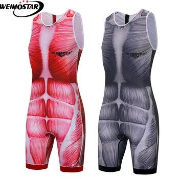 Hombres triatlón ciclismo Jersey Pro equipo triatlón secado rápido transpirable ciclismo ropa...