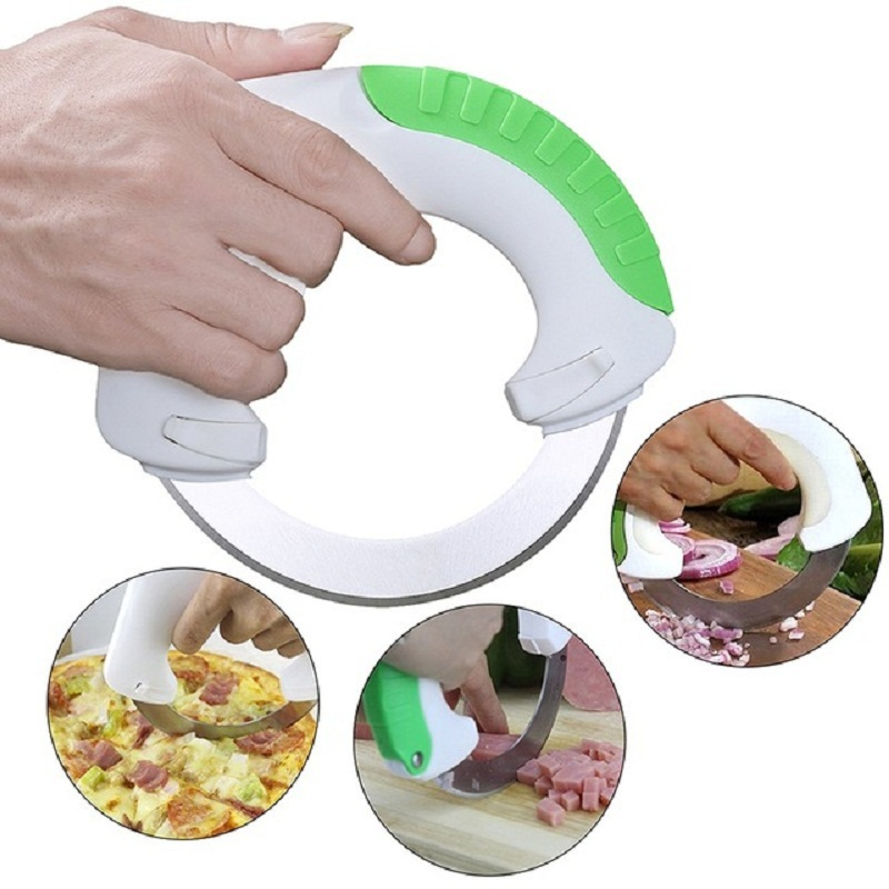Rolling Cuchillo Circular cocina cortador de Pizza rueda de cuchillo cortador de pastelería de helicóptero