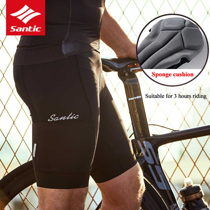 Santic 2019 Nieuwe Shorts Broek Fietsbroek Coolmax 4D Gewatteerde MTB Mountainbike Shorts Ademende Quick Dry Riding Bodems