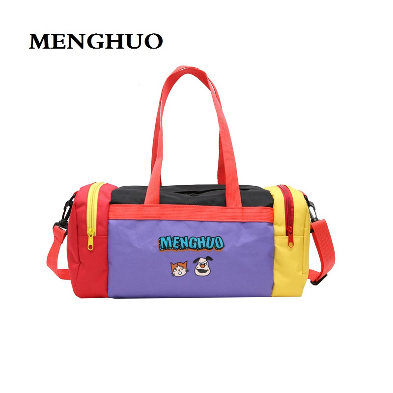 MENGHUO New Travel Handbag Weekend Luggage Travel Tote Sac Cartoon Travel Bag Women Duffle Bag Nylon Waterproof Colorful Packing