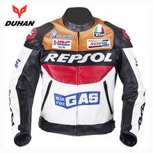 NEW DUHAN Men's Moto Racing Jackets Motorbike GP REPSOL Motorcycle Riding PU leather Jacket Polyurethane
