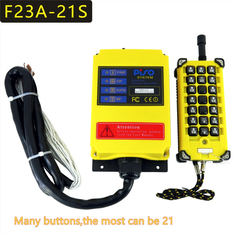 F23A 21S button name custom made 21 Channels Hoist Crane Industrial Truck Radio Remote Control System