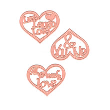 YaMinSanNiO Design Craft Lace Metal Cuttings Dies Heart and Flower dies metal Die Cuts background Embossing