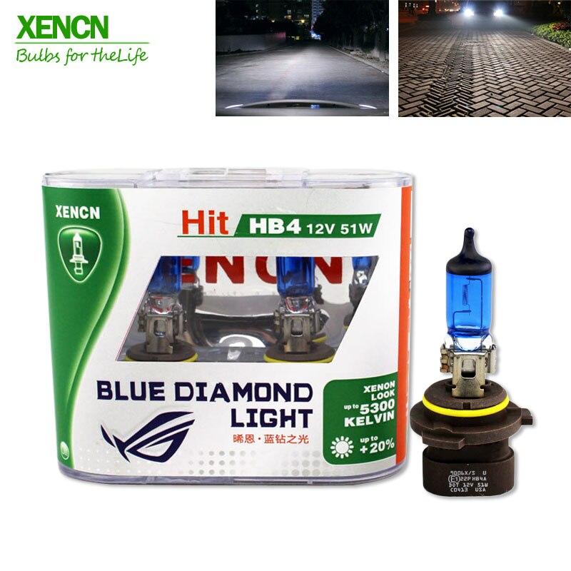 XENCN HB4A 9006XS 12V 51W 5300K Blue Diamond Light Car Bulbs Xenon Look Super White Fog Halogen Lamp for Cadillac Dodge Chrysler xencn 9008 h13 12v 60 55w 5300k blue diamond light car bulbs headlight xenon look halogen lamp for chevrolet cruze hummer