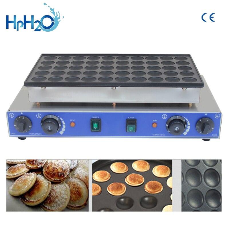 CE approved 110V/220V commercial 50 hole Dutch Poffertjes Grill Mini Pancakes Maker waffle pancake iron cake oven
