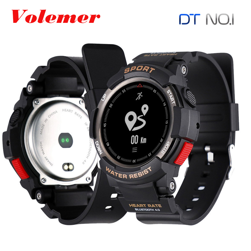 Volemer NO.1 F6 GPS IP68 Waterproof Smart Watch Heart rate Sleep Monitor Remote Camera Sports Bluetooth Smartwatch PK DM98 K88H volemer gps smart watch ip68 waterproof sports heart rate monitor bluetooth wristband oxygen compass smartwatch for android ios