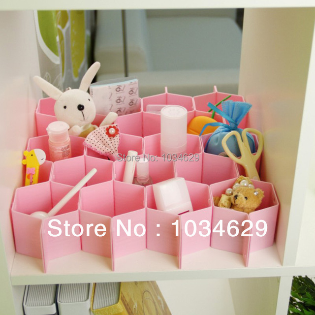 Wholesale Ikea Novelty Home Decor Storage Box For Bra Underwear Jewelry Organizer Honeycomb Plastic Storage Box
