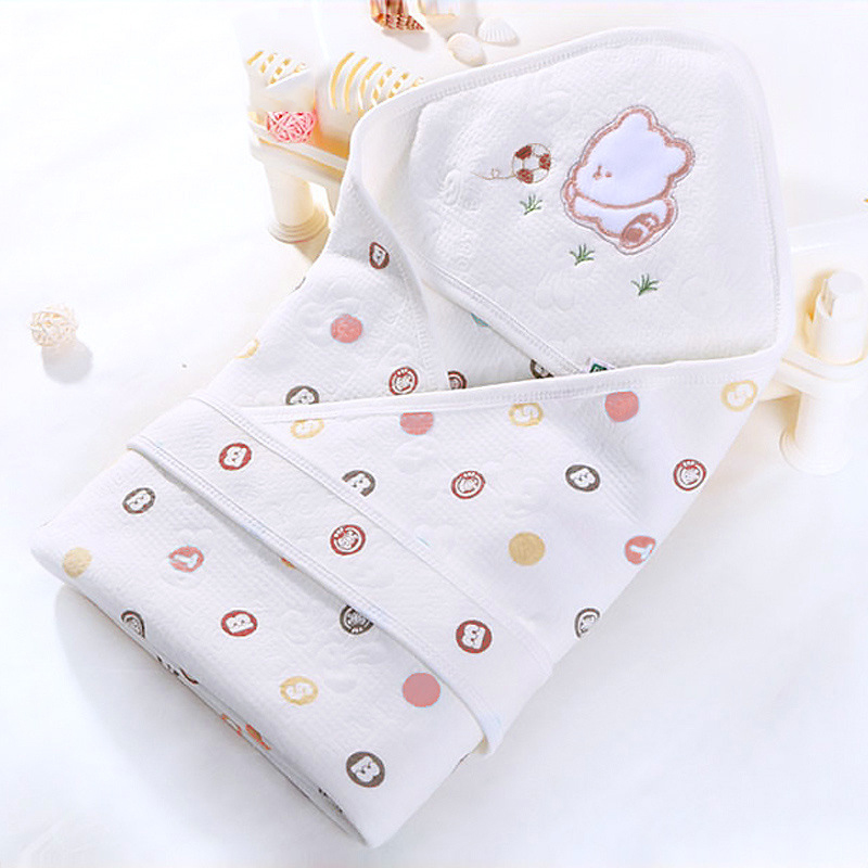 New born baby bed blanket 100% cotton spring summer baby sleeping bag printing envelope swaddle towel new 2017 summer 100