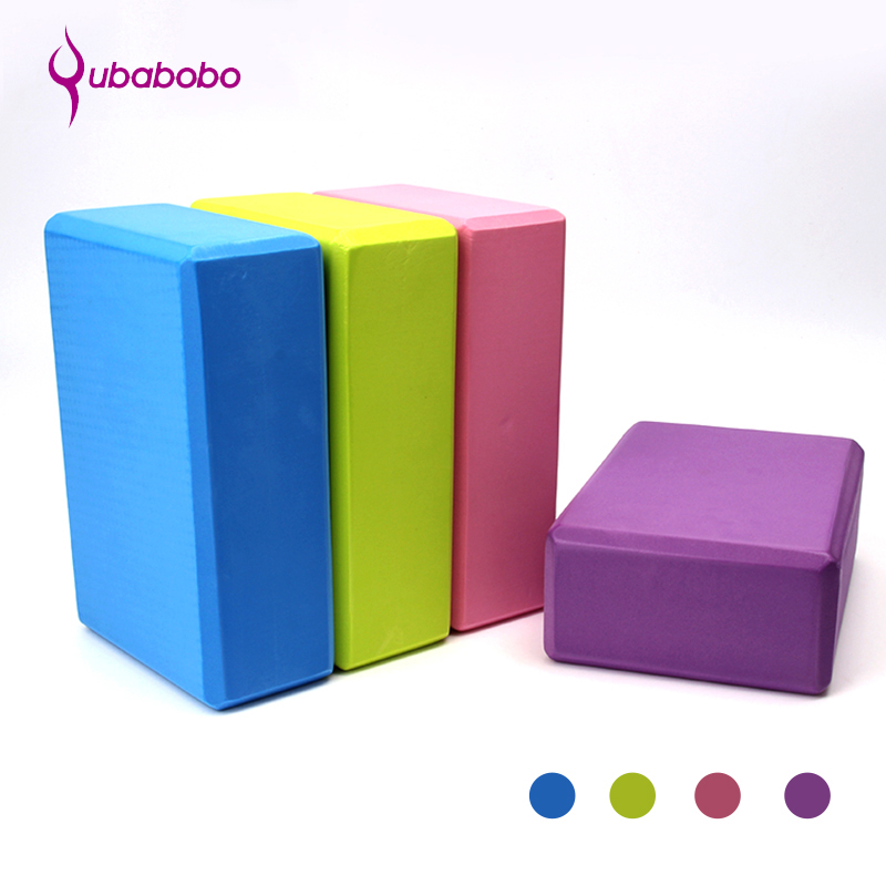7.5 CM EVA Thicken Women Yoga Blocks 4 Colors Yoga Aids Fitness Blocks High Density Pilates Eco-friendly Yoga foam Roller Pillow