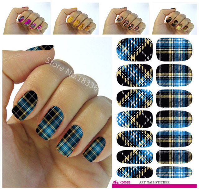 New Fashion Water Transfer Foil Nail Stickers All Kinds Of Nail Art