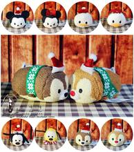 TSUM TSUM Mini Christmas Style Minnie Mickey Daisy  Pluto Stuffed Plush Toys For Girls Children Gift Collection