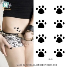 2pcs/lots A Small Fresh Female Tattoo Tattoo Simple Cute Bear Paw Print Disposable Waterproof Pattern HC1028