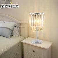 Свет роскошный светодиодный Кристалл Настольная лампа Простая Современная Гостиная Кабинет светодиодный настольная лампа креативная спа