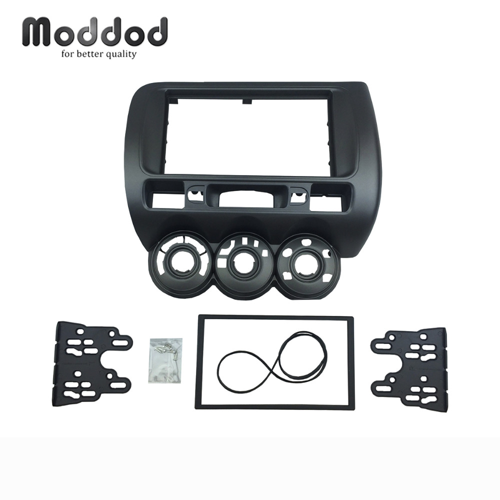 One or Double Din Audio Fascia for HONDA Jazz Radio CD GPS DVD Stereo CD Panel Dash Mount Installation Trim Kit Frame for honda civic hatchback 2012 double din fascia radio cd gps dvd stereo cd panel dash mount installation trim kit frame