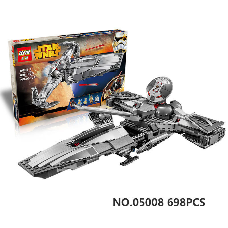 05008 698Pcs The Force Awakens Sith Infiltrator STAR WARS Building Block Darth Margus Toys For Children Star Wars
