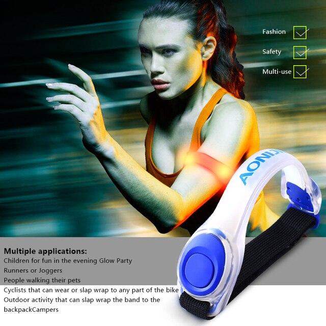 AONIJIE E4042 Night Running LED Lamp Armband Reflective Bracelet 3