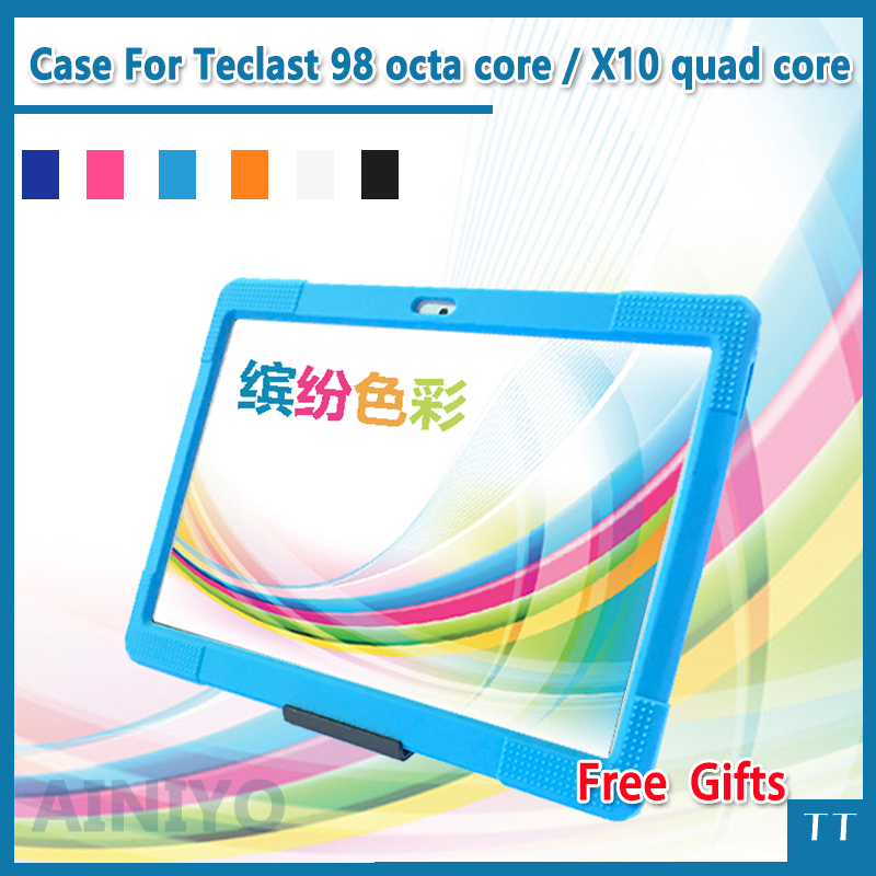 Soft silicone case For Teclast 98 octa core tablet pc ,Safe Shockproof Silicone cover for 10.1inch Teclast X10 quad core fashion 2 fold folio pu leather stand cover case for teclast x10 quad core 98 octa core 10 1inch tablet pc