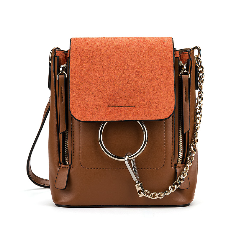 Star Favorite High Quality Genuine Cowhide Leather Mini Cloe Bag Casual Chain Shoulder Bag with Ring Women Luxury Brand Backpack
