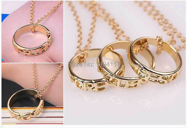 Fine jewelry-best friends forever necklace hollow best friend Circle necklace friendship neck chain ladybro jewelry