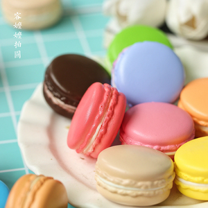 Image 3 - 2pcs/lot 5cm Macarons Simulated Bread INS Photography Props for Foods Baking photography Accessories Background DIY Decoration