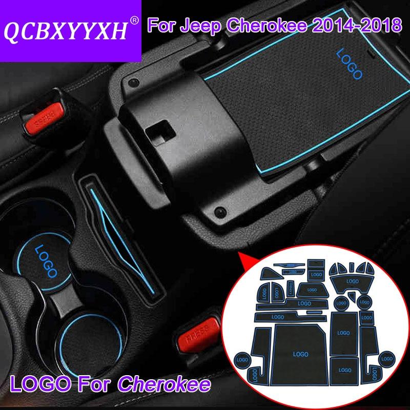 QCBXYYXH 28Pcs Car Styling Slot Pad Interior Door Groove Mat Latex Anti-Slip Cushion For ...