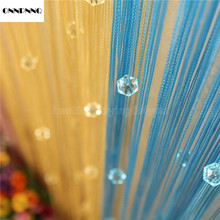 ONNPNNQ 1*2m Chic Beaded Curtain Crystal Divider Decorative String Door Window Room IC