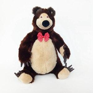 Image 4 - Маша и Медведь, игрушки с музыкой, Маша, мягкие плюшевые игрушки, Маша Y El Oso Juguetes для детей, подарки для малышей