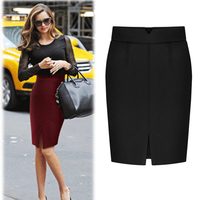New Casual Women S Business Suit Pencil Skirt High Waist Office Lady Winter Autumn Wool Pencil