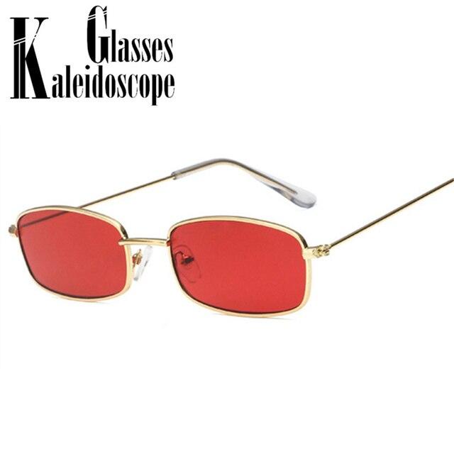 Pequenos Óculos De Sol Mulheres 90 s Homens De Metal Retro GlassesFemale Vermelho  Óculos de Lentes 382fa9476d