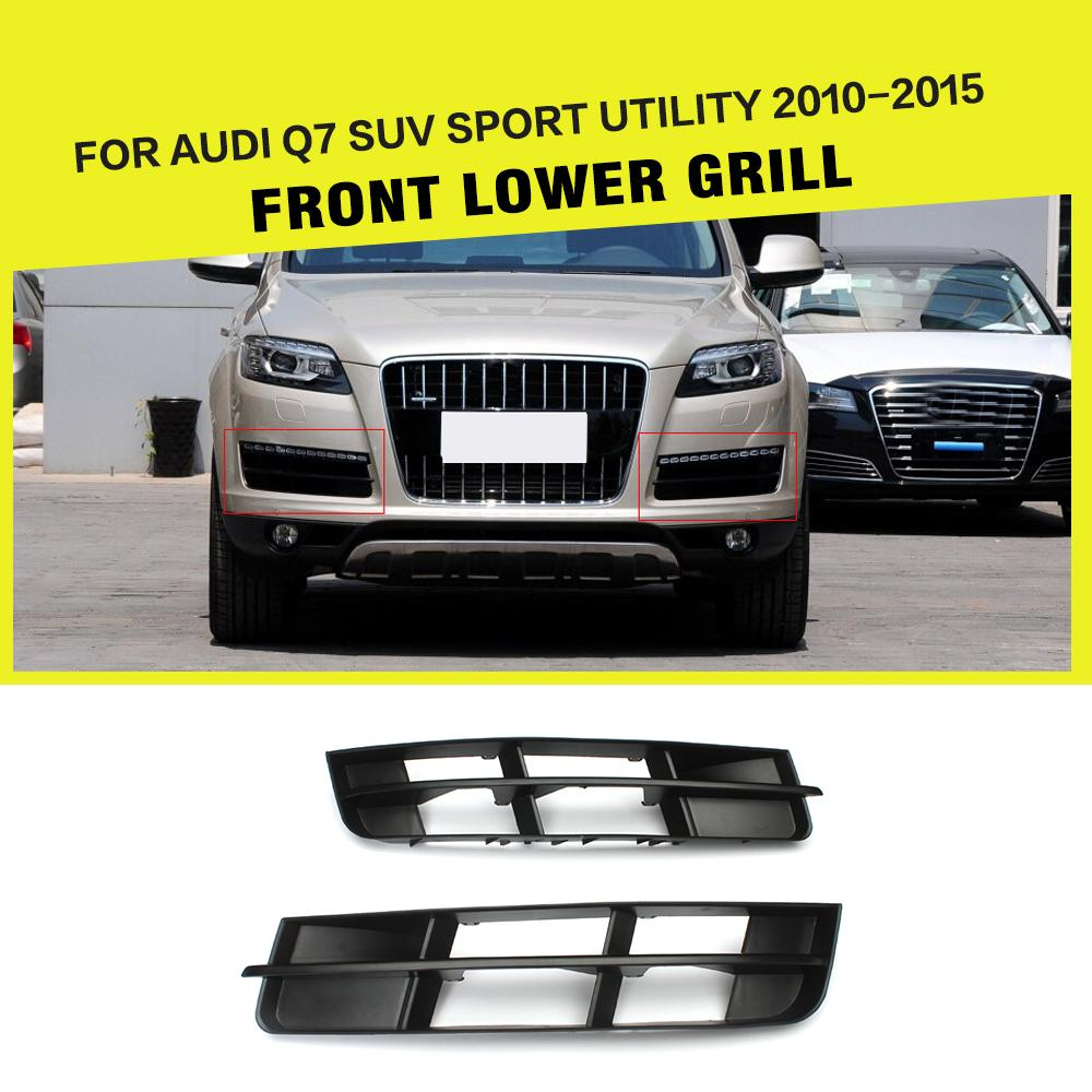 Car Styling Black ABS Front Bumper Lower Mesh Grill Grille for Audi Q7 SUV Sport Utility 2010   2015|mesh grille|bumper grille|front bumper grille - title=