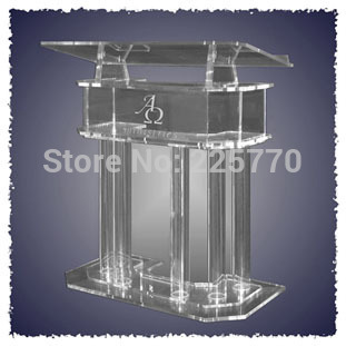 Clear Acrylic Church Pulpit Podiums /Rostrum/PMMA Pulpit  acrylic reception display clear acrylic a3a4a5a6 sign display paper card label advertising holders horizontal t stands by magnet sucked on desktop 2pcs