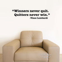 Winners Never Quit Quote Wall Sticker Motivational Quotes Decal Inspirational DIY Easy Art Cut Vinyl Q109