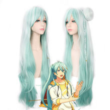 Ensemble Stars Hibiki Wataru Long Curly Mix Color Synthetic Hair Cosplay Costume Wig With Bun Heat Resistance Fiber for women(China)