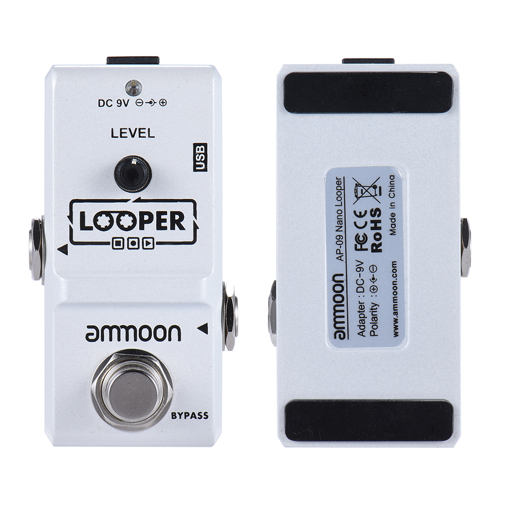 High Quality Ammoon AP-09  Nano Loop Electric Guitar Effect Pedal Looper True Bypass Unlimited Overdubs 10 Minutes Recording