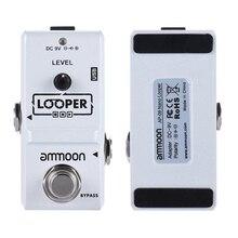 Haute qualité ammoon AP 09 Nano boucle guitare électrique effet pédale boucleur véritable contournement illimités Overdubs 10 Minutes denregistrement