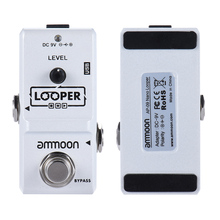 High Quality ammoon AP 09  Nano Loop Electric Guitar Effect Pedal Looper True Bypass Unlimited Overdubs 10 Minutes Recording