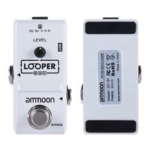 Высокое качество ammoon AP 09 Nano Loop педаль эффектов для электрогитары Looper True Bypass Unlimited Overdubs 10 минут записи