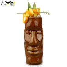 цены на 450ml Hawaii Tiki Mugs Cocktail Cup Beer Beverage Mug Wine Mug Ceramic Easter Islander Tiki Mugs  в интернет-магазинах