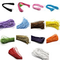 80M Waxed Rop Cotton Cord Thread For Jewelry Making Multicolor Findings 1mm/1.5mm Wide For DIY Craft High Quality Accessories