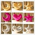 Bebé de Peluche amor corazón Luna almohada 45*45 cm gold star Luna Almohadas Sofá cojines decorativos para Habitación de los niños Juguetes de peluche