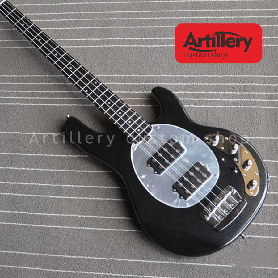 free shipping factory custom musicman bass guitar stingray 4 string electric guitar with ebony. Black Bedroom Furniture Sets. Home Design Ideas