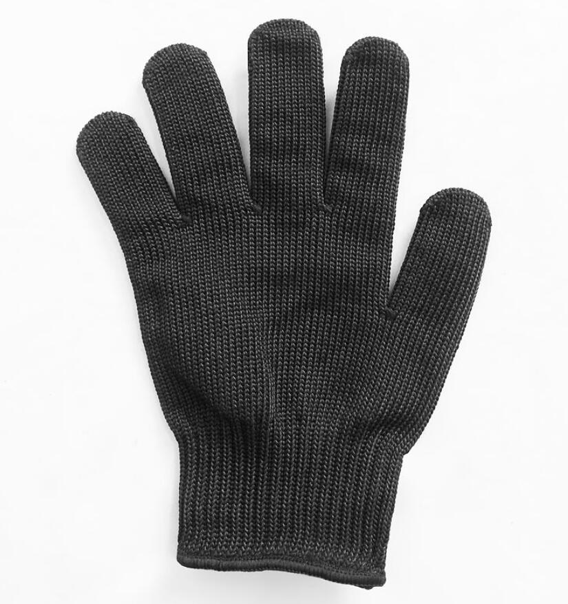 By DHL 50 Pair Black white Working Safety Gloves Cut Resistant Protective Stainless Steel Wire Butcher