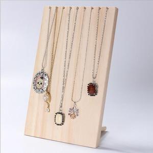 Retro Wood Necklace Display St