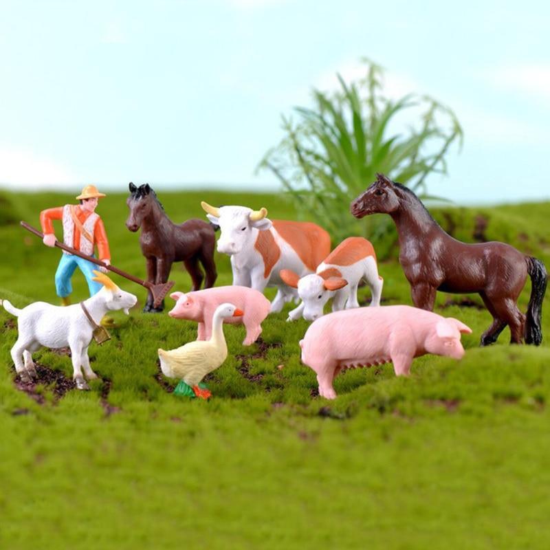 🛒 [HOT SALE] | ❤ Ferme Animaux Agriculteur Cheval Vache Petit ...